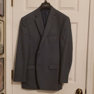 Chaps Suits & Blazers - Dark Blue small checkered patterned Blazer